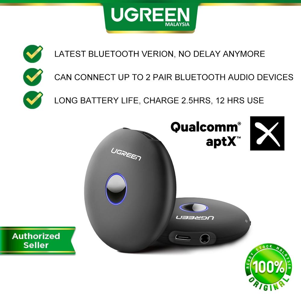 UGREEN 2 in 1 Aptx Bluetooth 5.0 Transmitter Receiver + Wireless Audio Adapter Home Car TV Stereo System Laptop Speaker