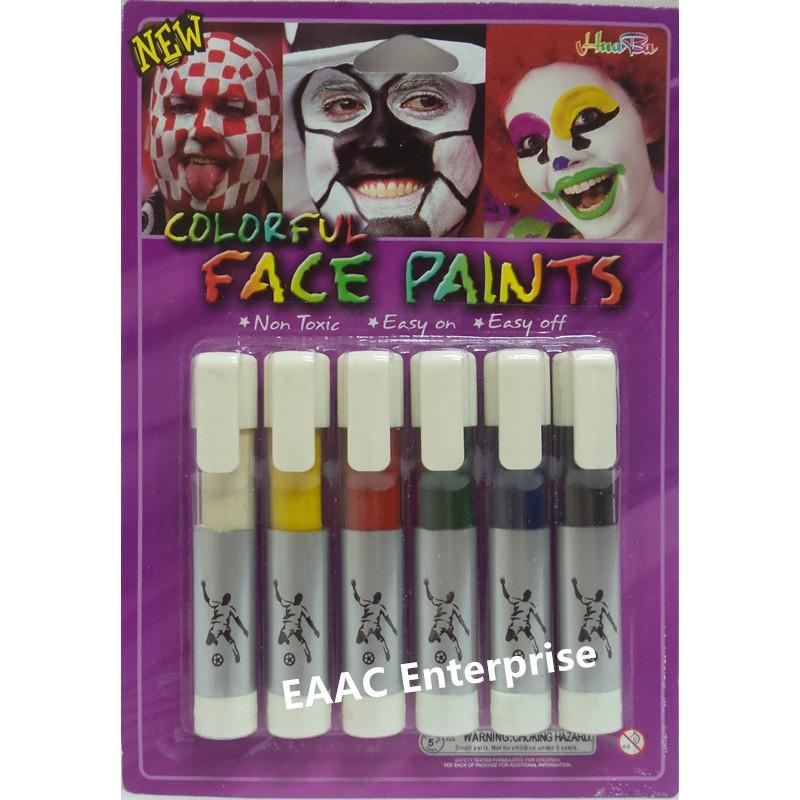 6 Colors Body Face Paint Kit Art Makeup Painting Dress Up Party