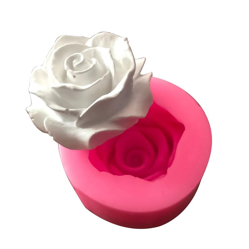 3D Rose Flowers DIY Silicone Mold Fondant Sugarsraft Cake Decor Baking Mould