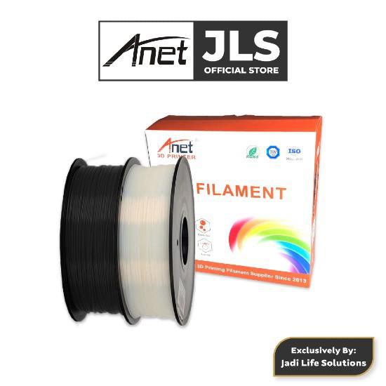 Anet 340m 1.75mm PLA 3D Printing Filament Biodegradable Material White Black Jadi Life Solutions
