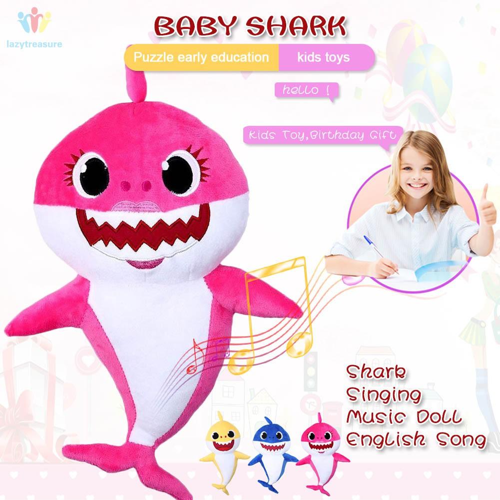 Kids Plush Doll Shark Baby Singing Luminous Plush Baby Educational Toys