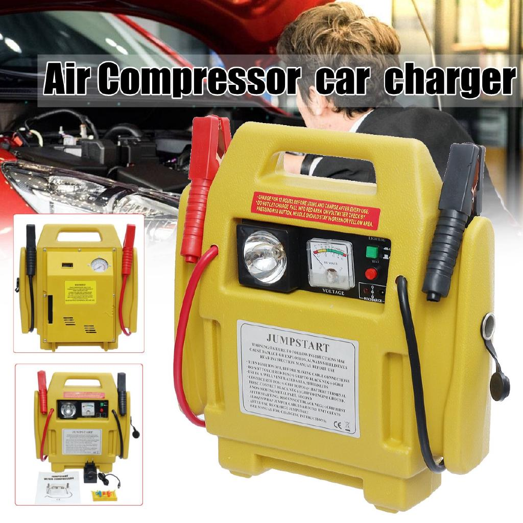 Image result for 12V Car Jump Starter Battery Start Booster Charger Leads Air Compressor Portable