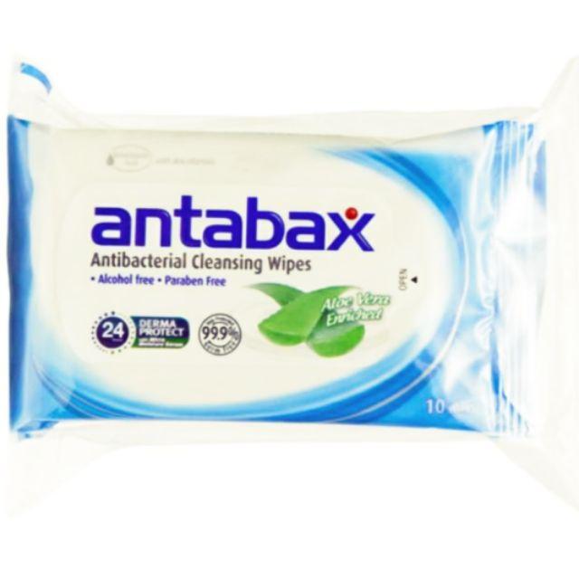 Antabax Antibacterial Cleansing Wipes 10's
