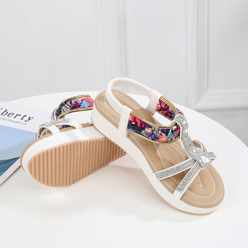 24fd708f88 Fashion new summer flat bottom bohemian national wind comfortable wild  sandals
