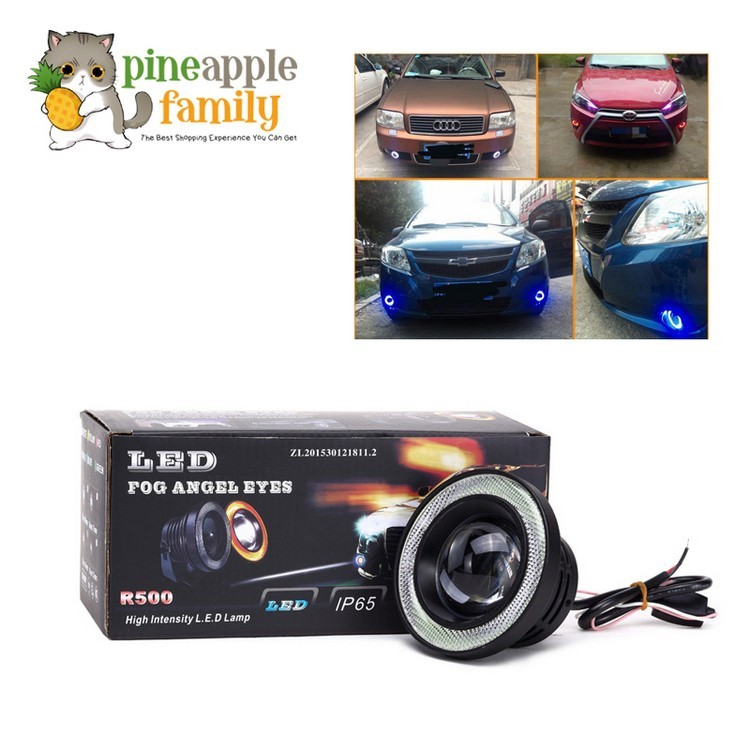 Pair 3 5 Inch LED Projector Fog Light High Power w/ COB Angel Eyes Halo  Rings