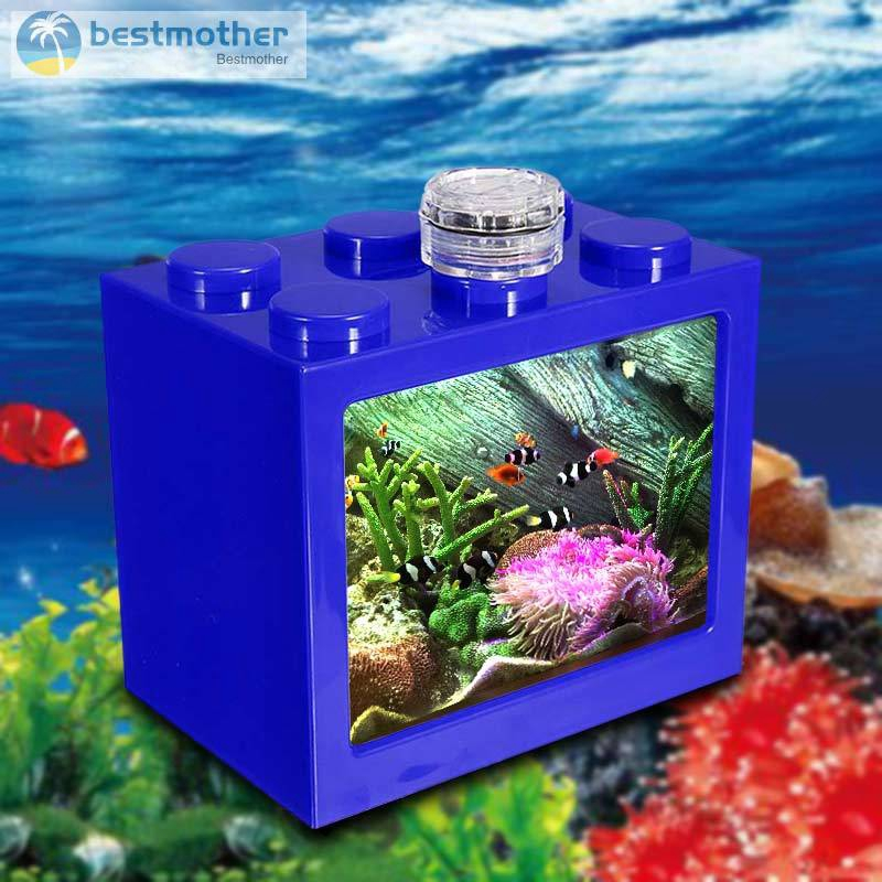 BM Lighting Clear Fish Tank Ornament Aquarium Office Desktop Home Decor