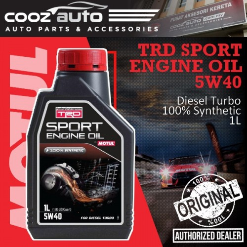 Motul TRD Sport Engine Oil (Diesel) 5W40 1L - 100% Synthetic