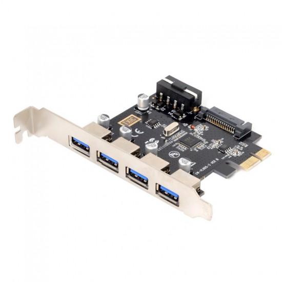 4 Ports PCI-E to USB 3.0 HUB PCI Express Expansion Card ...
