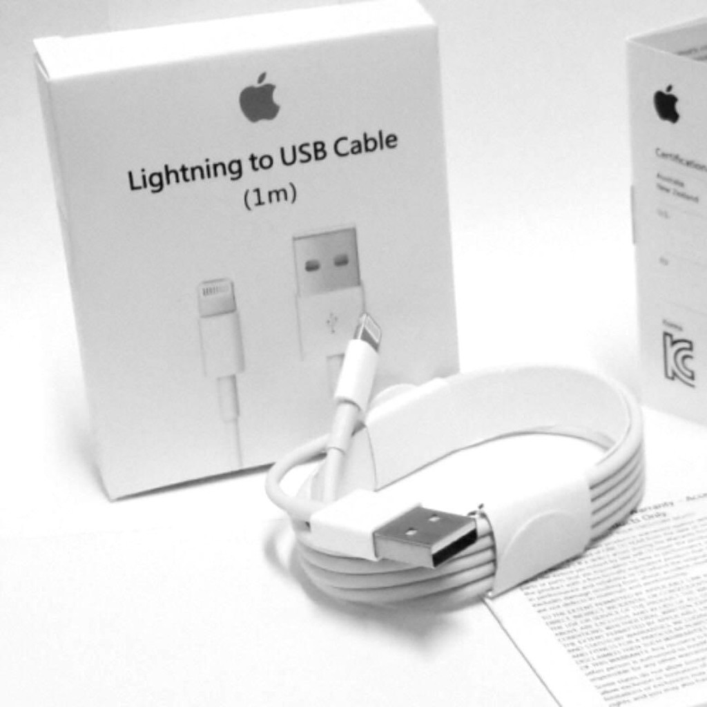 (1 Year Warranty) Original Lightning To USB Apple Cable Compatible For IPhone IPad IPod Cable - 1 Meter