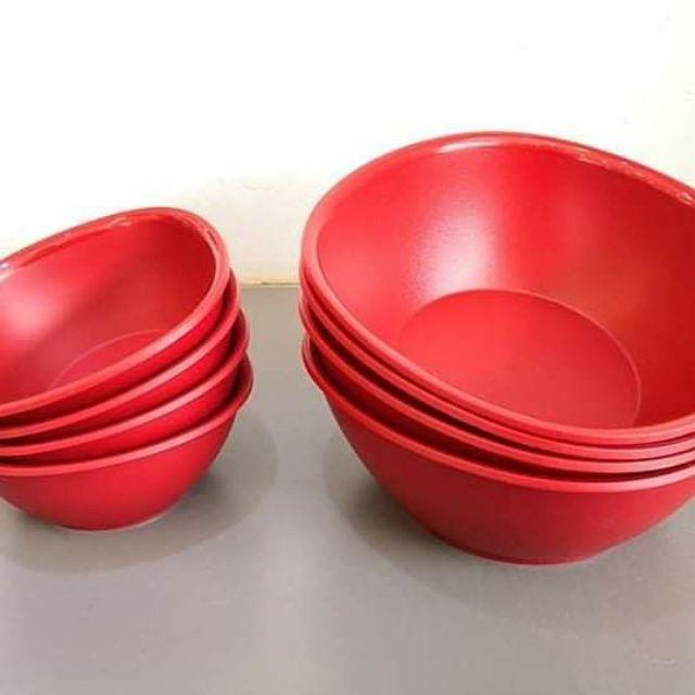 Tupperware Royal Red Bowl Set