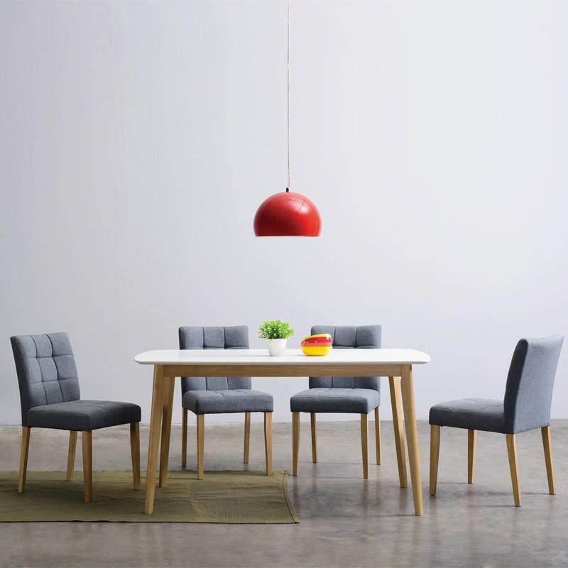 Furniture Direct DAVIN Scandinavian 4 seater dining set/ set meja makan
