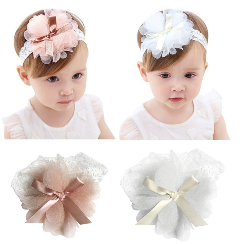 Aggressive Baby Toddler Girls Pink Floral Bowknot Hairband Turban Headband A Great Variety Of Models Baby Accessories