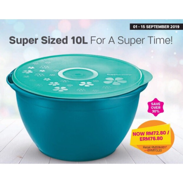 Tupperware Mexico[Free Gift with each parcel] Supersized Bowl(10L)