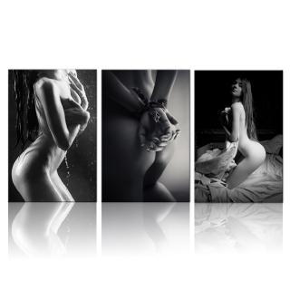 Black White Sexy Woman Body Art Modern Wall Art Canvas Painting Nordic Posters And Prints Wall Pictures For Living Room Decor Shopee Malaysia