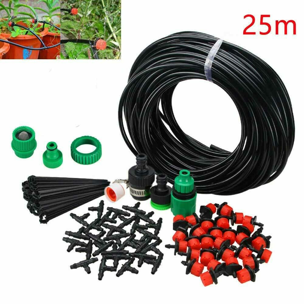 25m Water Irrigation Kit Micro Drip Watering System Automatic Plant Garden Tools