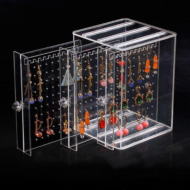 [ READY STOCK ]  3 Tiers Acrylic EarringHolder Stand Necklace Jewelry Organizers Shelf Rack Jualan Murah Makeup Storage