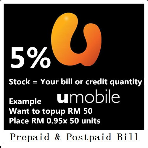 Umobile RM1 Reload Top up Prepaid & Postpaid RM1