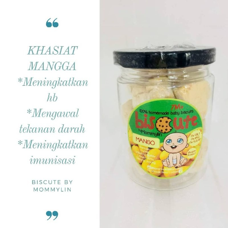 [VALUE BUY] 100% Homemade Baby Biscuits Mango (FOR 7M+)