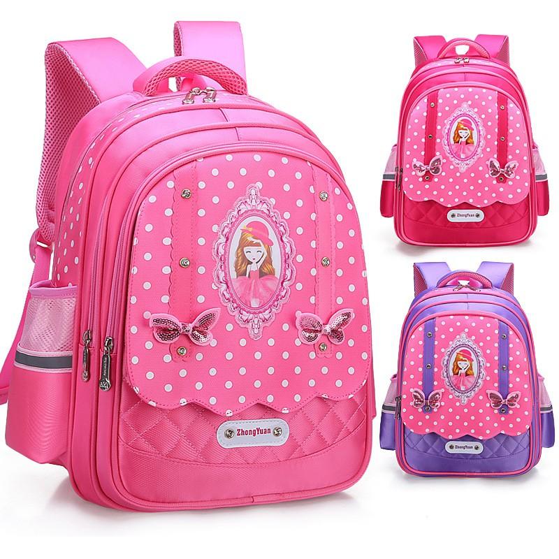 "Peppa Pig Girls School Book bag Backpack Pink Ballet Dress Kids Children 14/"""