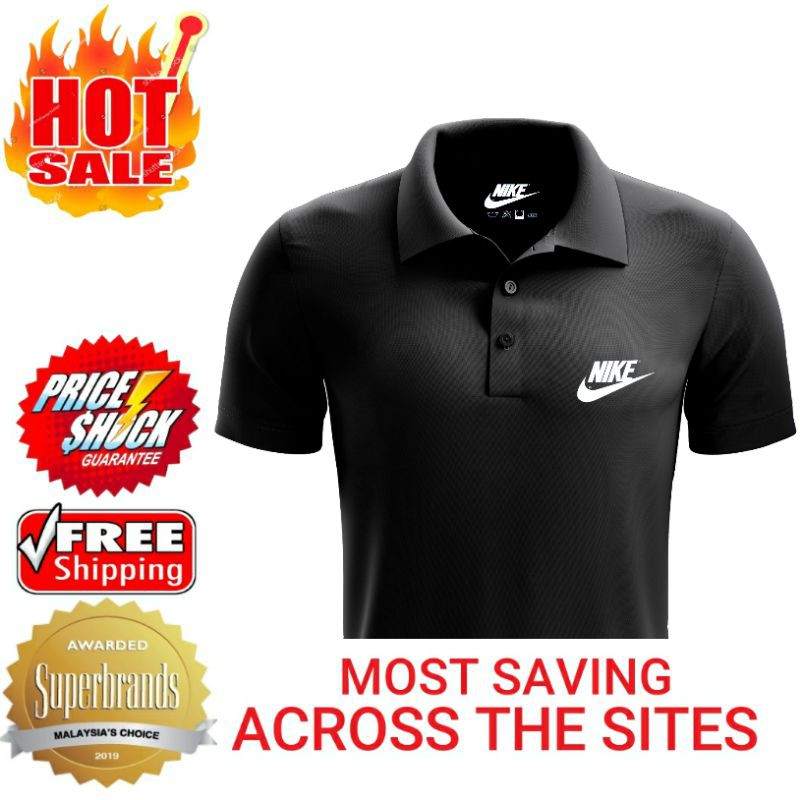 acento posición Con  🔥Selling Fast: Nike Essential Logo Mens Polo Collar T-Shirt For Men Women  Couple Set🔥 | Shopee Malaysia