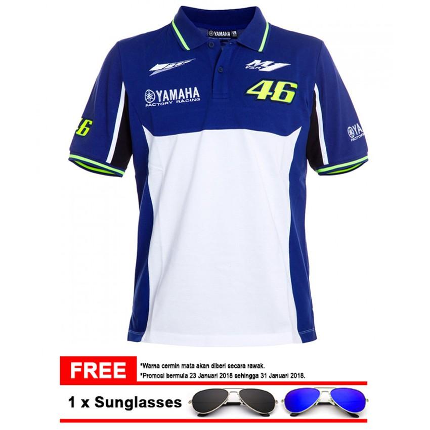Yamaha Motogp Valentino Rossi 46 Polo Shirt Shopee Malaysia