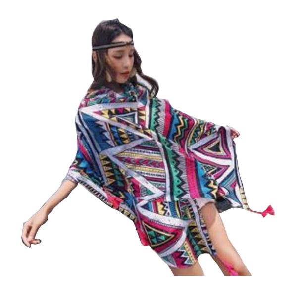 ผ้าคลุมโบฮีเมียน ผ้าคลุมไหล่ผืนใหญ่ #สินค้าพร้อมส่ง