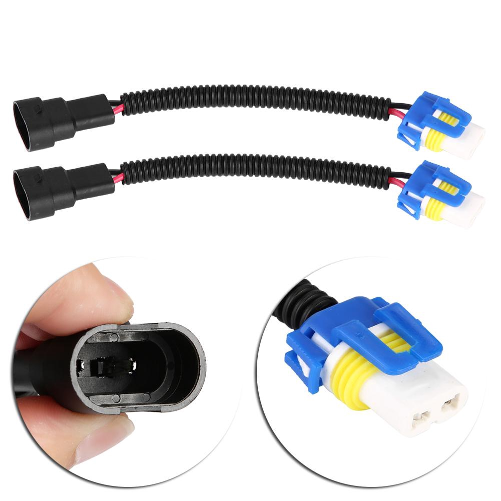 KIMISS H7 Car Headlight Adapter Fog Extension Plug Ceramic Adapter Cable Harness Connector