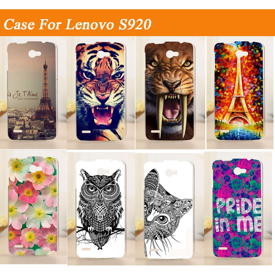 premium selection 3cba8 01fb3 Painted Case For Lenovo S920 Hard PC Back cover