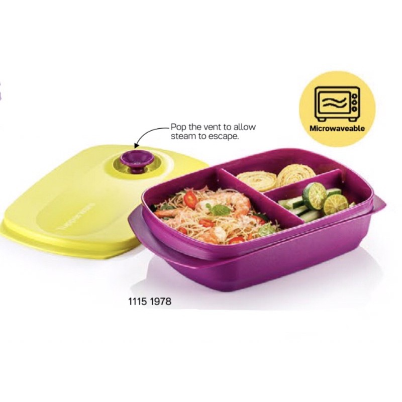 [TUPPERWARE] LUNCH BOX microwave friendly (1pc) 1L