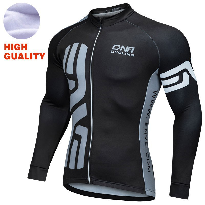 034545d98 Men s winter Long Sleeve Cycling Jersey MTB Bike Bicycle Shirt Clothing