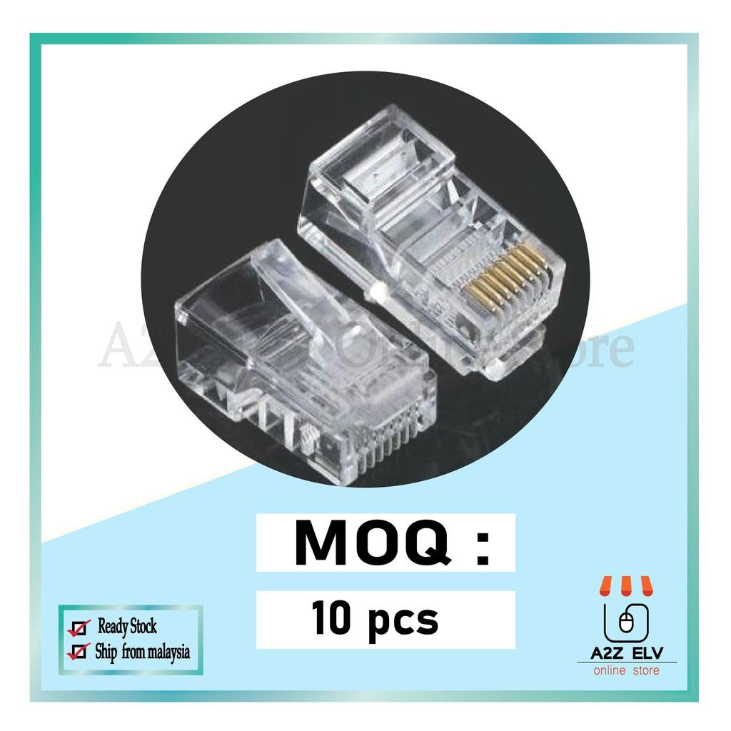 CAT6 RJ45 MODULAR PLUG 100% ORIGINAL ( 1 Pack 10PCS only)