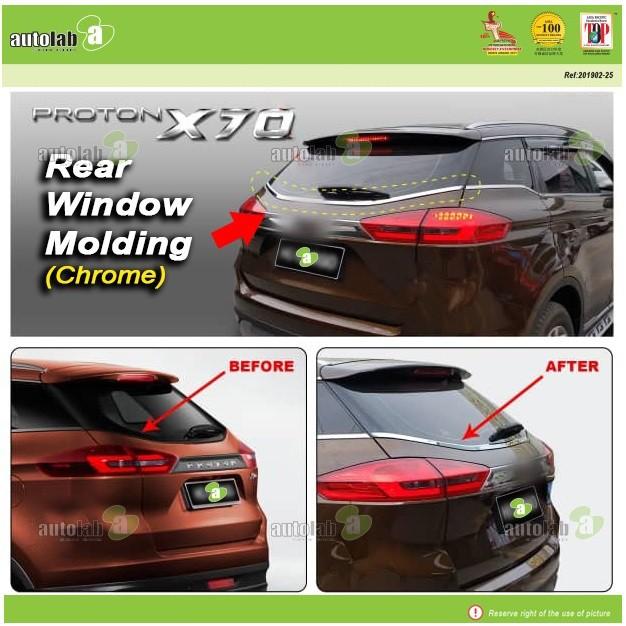 Rear Window Windshield Chrome Lining Proton X70