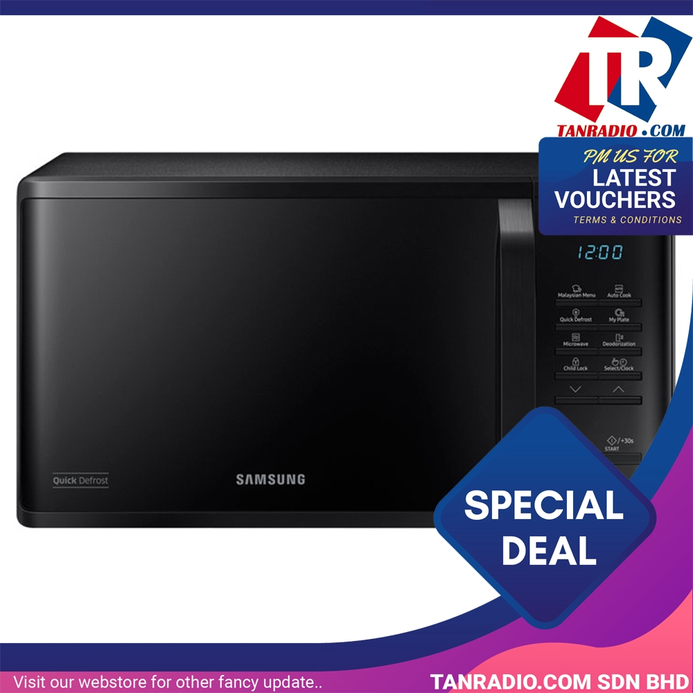 Samsung 23l Solo Microwave Oven With Quick Defrost Ms23k3513ak: Samsung Microwave Solo 23L Rapid Defrost SAM MS23K3513AK