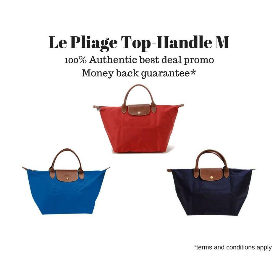 100% authentic Longchamp Le Pliage Top-Handle (Medium)  48cb4fde56