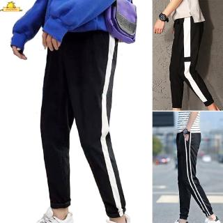 Jogging Trousers Pants Casual Long Ninth Autumn Spring Side Stripe New