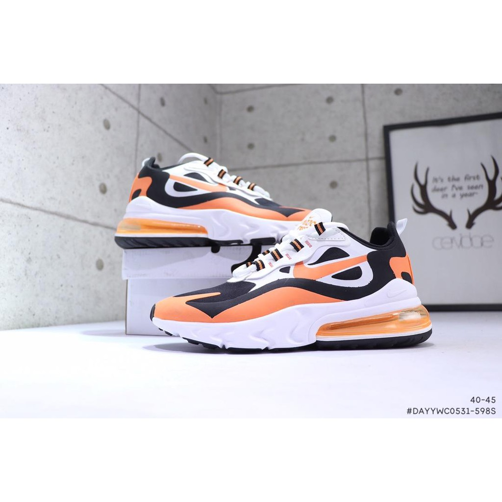 air max 270 react white orange