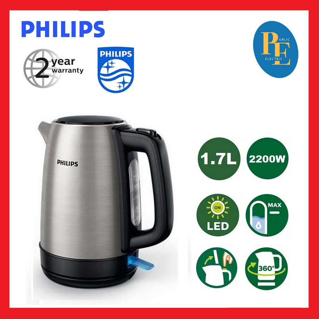 Philips Stainless Steel Jug Kettle 1.7L - HD9350