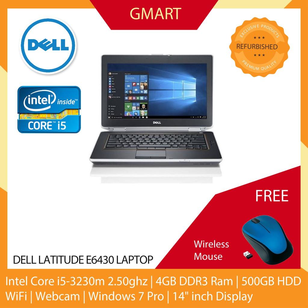 Dell Latitude E6430 Laptop / 14 inch LCD / Intel Core i5-3230M / 4GB DDR3  Ram / 500GB HDD / WiFi / Windows 7 / Webcam