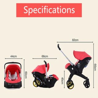 READY STOCK NOW~4 IN 1 CARSEAT STROLLER 2 way Facinf ...