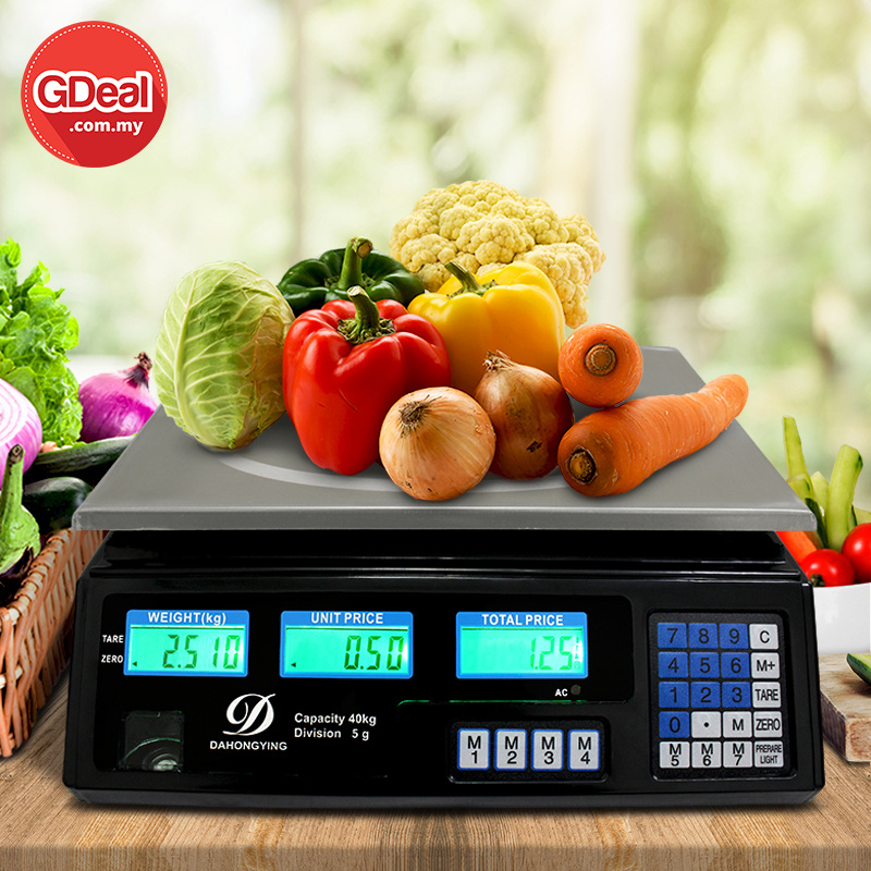 GDeal40kg Rechargeable Commercial Scale Electronic Digital Price Computing Weighting Fruit Scale