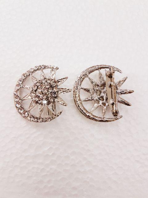🎆 Kerongsang Bulan Bintang 5.0cm Gold / Silver (1 pcs) 🎆