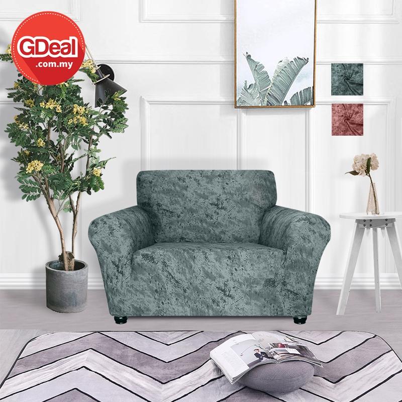 GDeal European Universal Elastic Stretch Anti Skid Sofa Cover Pelindung Sofa (90-140CM) ڤليندوڠ سوف