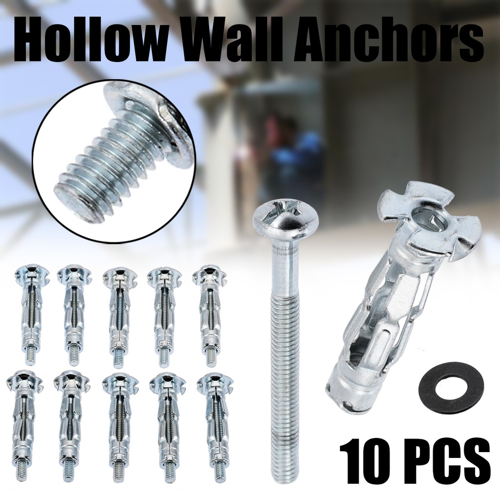 SCREW SLEEVE /& WASHER ALL SIZES METAL PLASTERBOARD CAVITY WALL ANCHORS