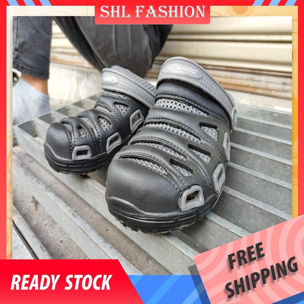 SHL Men CROCS 3 Colors Selipar Kasut Unisex Crocs Sandal Crocs size 40-45【大头鞋】598