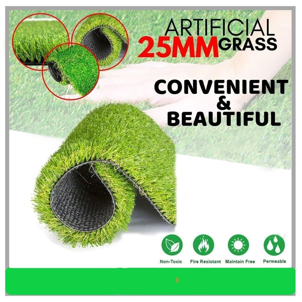 25MM Light Duty Artificial Grass Fake Synthetic Karpet Rumput Tiruan ( 2 Meter Width ) 2M