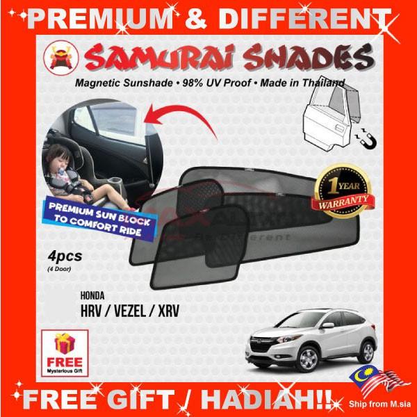 [FREE Gift] HONDA HRV/ VEZEL/ XRV SAMURAI SHADES FULLY MAGNETIC SUNSHADE
