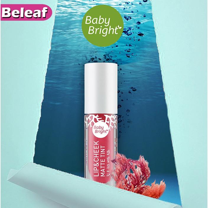 Baby Bright Lip & Cheek Matte Tint 2.4g (Mew) ลิปเบบี้ไบร์ท ลิปมิว นิษฐา ลิปทิ้น ทิ้นท์ เนื้อแมท ใช้ได้ทั้งปากแล