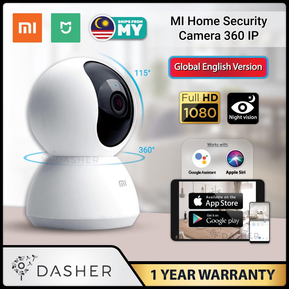 [ENGLISH] Xiaomi Mijia 360 IP Camera Mi Home CCTV Security Wifi Cam 1080p  FullHD