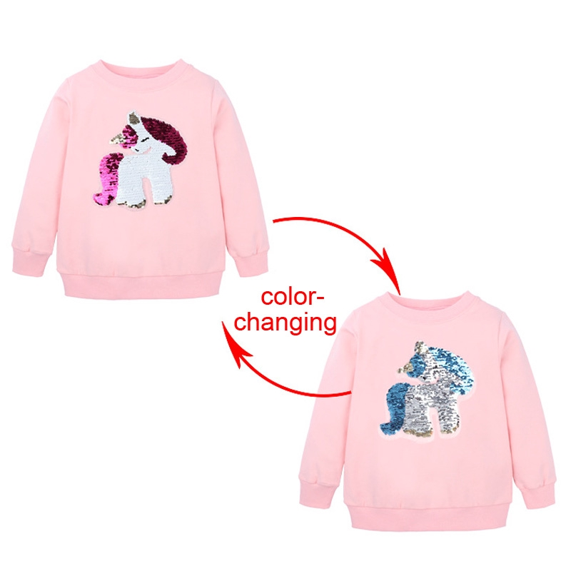 Toddler Baby Girls Boys Clothes Elephant Long Sleeve Blouse Tops Sweater Shirt