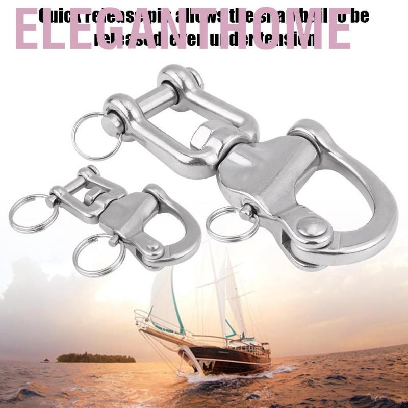 5 Eye Swivel Snap Shackle 316 Stainless Steel for Sailboat Spinnaker Halyard